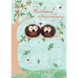 Anniversary Card - Owls (Husband)