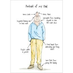 Fathers Day Card - Portrait Of My Dad