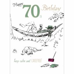Young At Heart Card - 70 Male Calm & Carefree