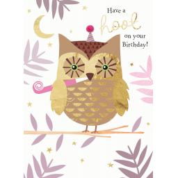 Pom Poms Card Collection - Hooty Owl