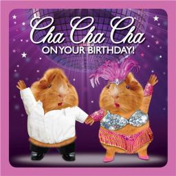 Crazy Crew Card - Cha Cha Cha (Birthday)