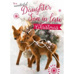 Christmas Card (Single) - Daughter & Son In Law 'Deer In the Snow'