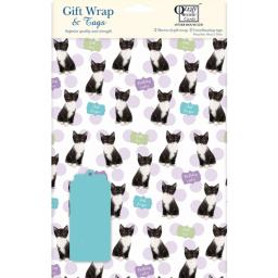 Gift Wrap & Tags - Kittens & Spots