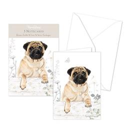 Pollyanna Pickering Stationery - Notecard Pack - Pug