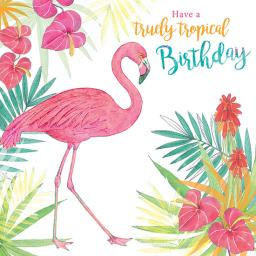 Summer Tropics Card - Fabulous Flamingo