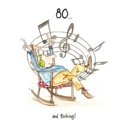 Camilla & Rose Card - 80th And Rocking