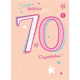 Special Birthdays Card - 70 Female