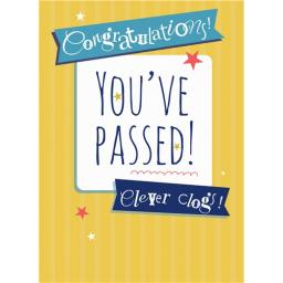 Congratulations Card - You've Passed Text
