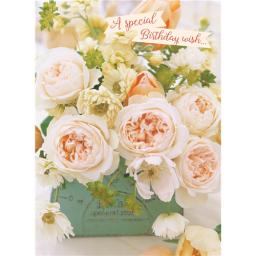 Floral Birthday Card - Spring Bouquet