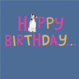 Dogs Trust Waggy Tails Card - Happy Birthday Jack Russell