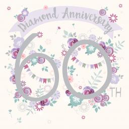 Anniversary Card - 60 Floral (Your Diamond)