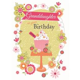 Family Circle Card - Cupcake & Flowers (Granddaughter)
