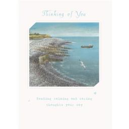 Thinking Of You Card - Boat By The Beach
