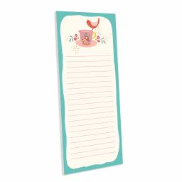 Bohemia Stationery - Magnetic Memo Pad - Bird