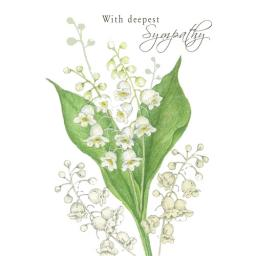 Sympathy Card - Lily Of The Valley