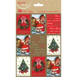 Christmas Gift Tags - Traditional (36)