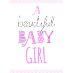 New Baby Card - Beautiful Baby Girl