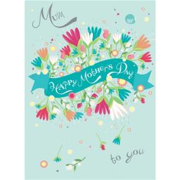 Mother's Day Card - Floral Banner