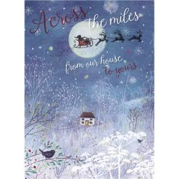 Christmas Card (Single) - Across The Mile 'Santa In The Moonlight'