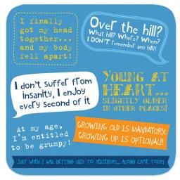 Coasters - Perfect Gifts For Him & Her Over The Hill