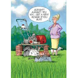 Gardeners Weakly Card - New Mower