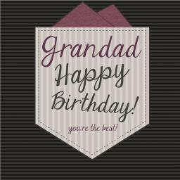 Family Circle Card - Happy Birthday (Grandad)