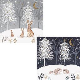 RSPB Luxury Christmas Card Pack - Christmas Gathering