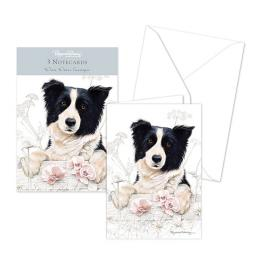 Pollyanna Pickering Stationery - Notecard Pack - Border Collie