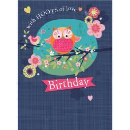 Poppy Davis Card - Owl & Friend