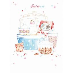 Teacups & Trinkets Card - Baking Day