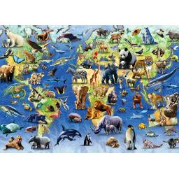 Rectangular Jigsaw - Endangered Animals
