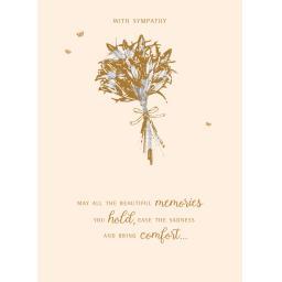 Sympathy Card - Lilies