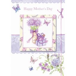 Mother's Day Card - Flowers & Present