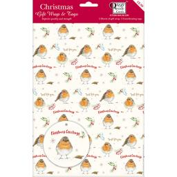 Christmas Wrap & Tags - Festive Robin