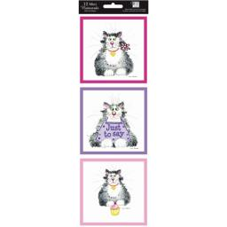 Hanging Notecard Pack - Ann Edwards Cats