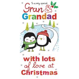 Christmas Card (Single) - Gran & Grandad
