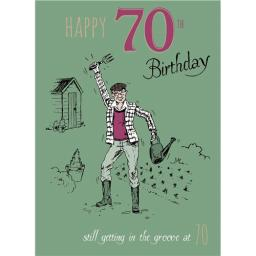 Young At Heart Card - 70 Male - Groovy Gardener