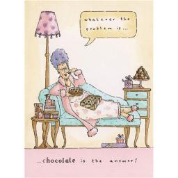 Blue Rinse Card - Chocolate