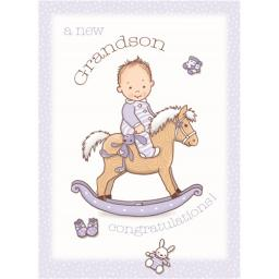 New Baby Card - Grandson