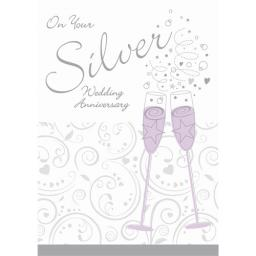 Anniversary Card - Glasses (Your Silver Anniversary)