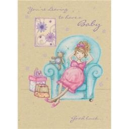 New Baby Card - Yummy Mummy (Leaving Card)