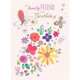 Family Circle Card - Flowers & Butterflies (Friend)