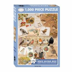 Rectangular Jigsaw - Garden Birds