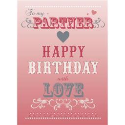 Family Circle Card - Birthday Text (Partner)