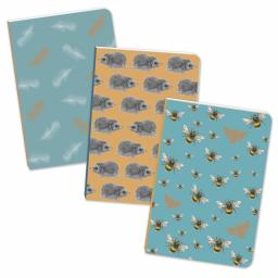 RSPB - A6 Mini Notebooks (Feather/Hedgehog/Bee)