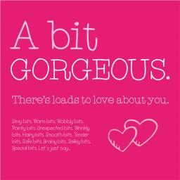 Valentines Day Card - Gorgeous (Open)