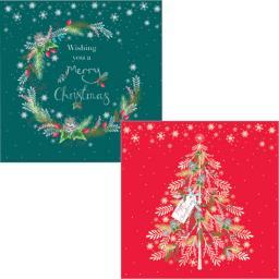 Luxury Christmas Card Pack - Wreaths & Trees