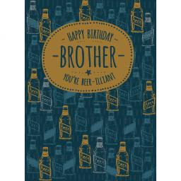 Family Circle Card - Beer-illiant Brother (Brother)