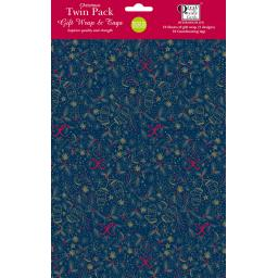 Christmas Wrap & Tags Bumper (Twin) Pack - Christmas Patterns
