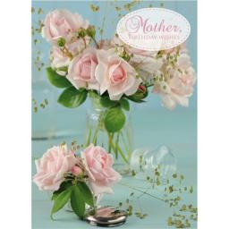 Family Circle Card - Pink Roses (Mother)